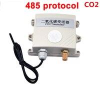 Бесплатная доставка Высокое качество co2 Модуль датчика газа 485 modbus CO2 передатчик детектор углекислого газа газовый датчик co2 485 протокола
