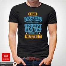 Perfect Grumpy Old Git Mens Funny T Shirt Gift for Him Dad Grandad Gray ! New Shirts Tops Tee  free shipping