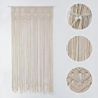 Hand woven Tapestry Cotton Yarn Knitted Door Curtain Wedding Party Backdrop Decoration Background Door Curtain