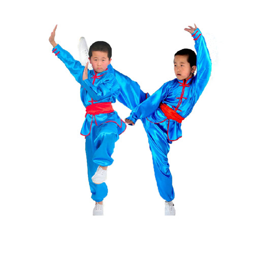 New 4 Colors Chinese Traditional Wushu Costume Martial Arts Uniforms For Kids Taichi Clothing Jacket+pant+belt