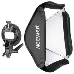 Neewer składany 24x24 cale/60x60 cm Softbox z uchwytem typu S do Speedlite błyskanie studyjne Monolight/Portrait w Softbox od Elektronika użytkowa na