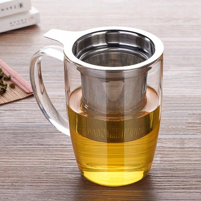 Stainless Steel Fine Mesh Tea Infuser Basket Reusable Tea Strainer Loose Leaf Green Herb Tea Filter Strainer for Mugs Teaware