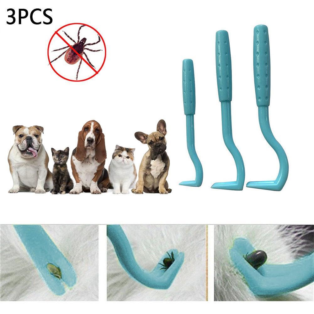 3PCS Pet Flea Remover Tool Scratching Hook Remover Pet Cat Dog Grooming Supplies Tick Picker Flea Removal Tool Pet Comb