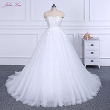 Buy wedding dress types and get free shipping on aliexpress elegant strapless lace up eye type court train a line wedding dress puffy princess wedding gown junglespirit Choice Image
