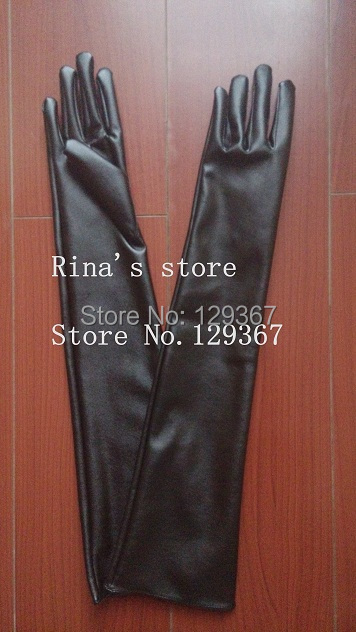 Good quality! 2015 autumn winter Women faux leather PU gloves ultra long 30cm, 40cm, 50cm, 60cm - YOU HAO'S FAMILY store