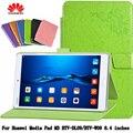 Покоя Магнит Кожаный Чехол Подставка Для Huawei М3 BTV-DL09/BTV-W09 8.4 дюймов раскладушка Чехол для tablet PU Защитный Shell + подарок