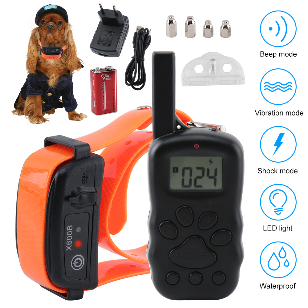 botuit-300m-remote-dog-training-collar-electronic-vibration-shock-rechargeable-waterproof-dog-collar-for-all-size-dogs