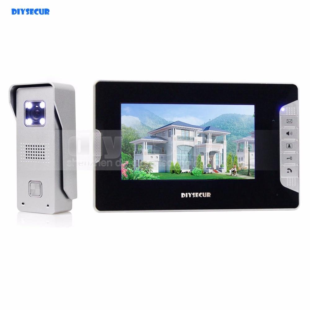 DIYSECUR 7 Video Doorbell For Home Security And Intercom Aluminum Alloy Camera 700TVL