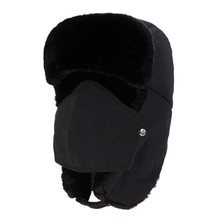Bomber Hat Fluffy Thickened Thermal Waterproof Ear Flap Chin