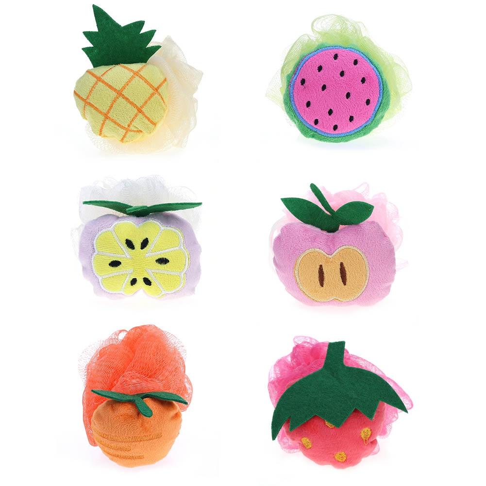 fruit shape bath ball bathroom bath sponge rubbing towel lovely modelling shower bath flowers/bath brush
