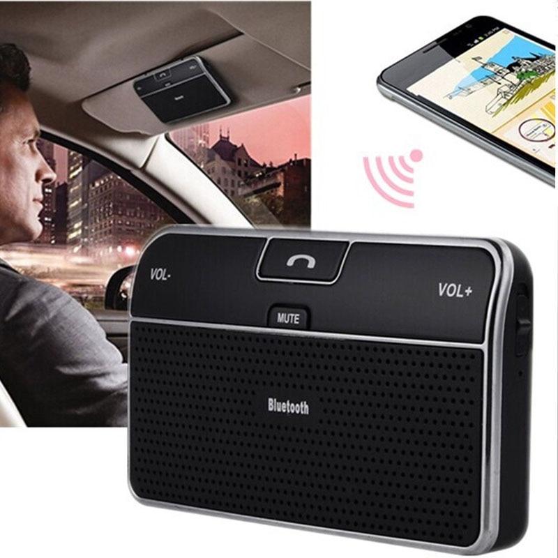 Sem fio bluetooth carro kit handsfree speakerphone v4.0 multiponto sol visor alto-falante para smartphones telefone carro carregador bluetooth