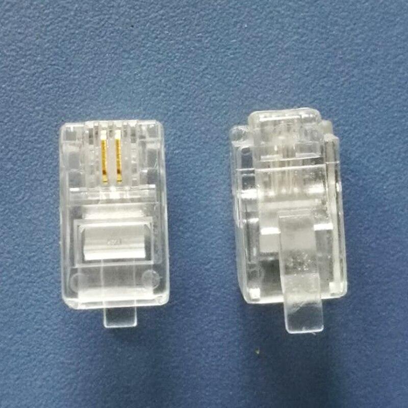 500X Modular Connector 4P2C Gold Plated Plug High Quality