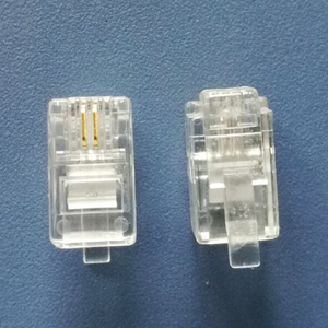 Image 1 - 500X Modular Connector 4P2C Gold Plated Plug High Quality