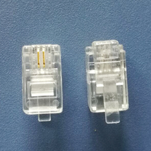 Złącze modułowe 500X 4P2C pozłacana wtyczka wysokiej jakości