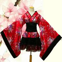 short anime cosplay japanese kimono lolita costume red woman child sexy gothic halloween costumes for women dress plus size