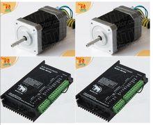 цена на 2 Axis High Qualiy 3D CNC Wantai Nema 17 Brushless DC Motor 4000RPM, 24VDC,26W,3phs 42BLF01& Driver BLDC-8015A, 80VDC,5000RPM