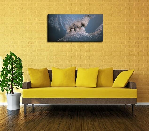 Kiss Art Abstract Wallpaper Desktop Oil Painting on Canvas Wall Art ...