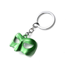 Hot Sale Movie Green Lantern Logo Mask Keychain  Pendant Keychain Men's Gifts Action Figures Metal Key Chains Key Ring Toys