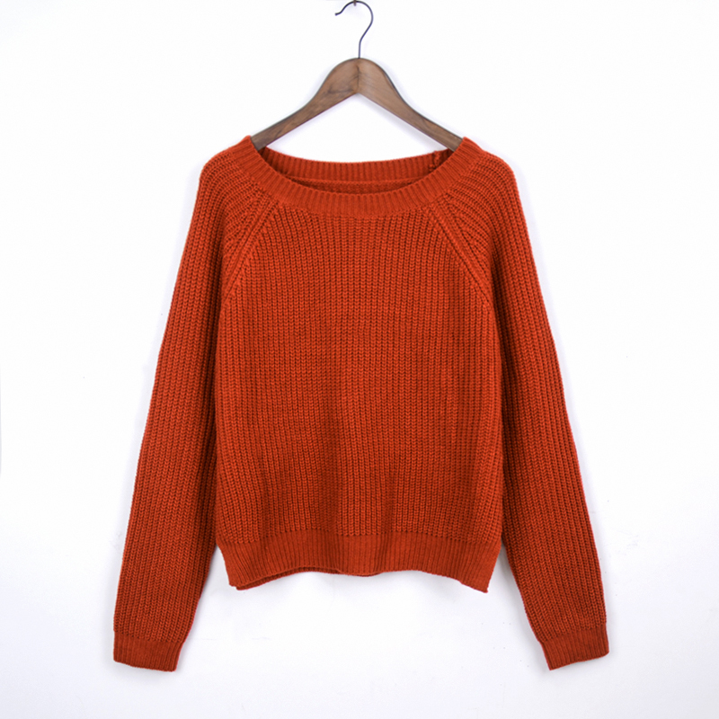 Autumn winter women sweaters and pullovers korean style long sleeve casual crop sweater slim solid knitted jumpers sweater mujer 16