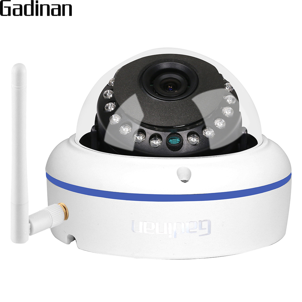 GADINAN HD 5MP 2592*1944 WiFi Wireless ONVIF Dome IP Camera Outdoor Waterproof Security Camera with Built-in Micro SD Card SlotGADINAN HD 5MP 2592*1944 WiFi Wireless ONVIF Dome IP Camera Outdoor Waterproof Security Camera with Built-in Micro SD Card Slot