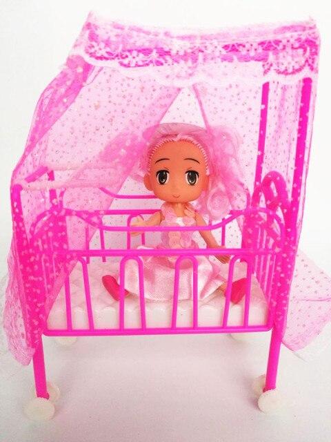Una cama dulce bebé cuna para Barbie Niñas, muñeca Muebles Kelly ...