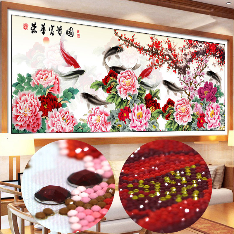 5d diamond specially shaped diamond painting fish wall sticker Embroidery beaded pattern set full embroidery rhinestones