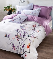 Free Shipping 100 Cotton Chinese Ink Painting Plum Blossom 4pcs Bedding Sets Reactive Printing Duvet Cover