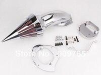 Хромированный Конус Спайк Воздухоочиститель Впускной фильтр комплект для Yamaha Vstar V Star 1100