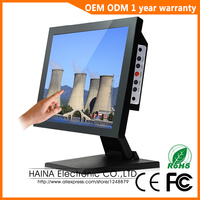 15 Inch Industrial Computer Monitor Metal Case Industrial VGA Or HDMI Monitor