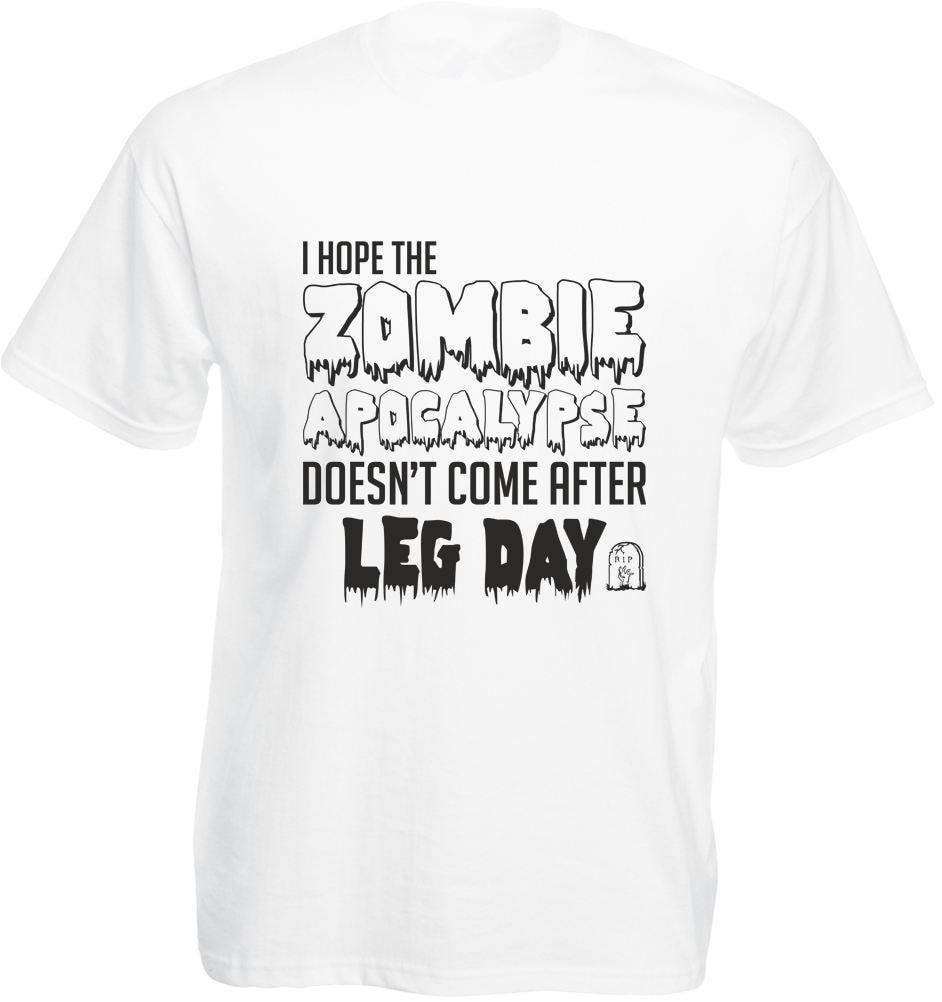 Рубашка предложения шеи экипажа Мода короткие мужские надеюсь зомби Апокалипсис doesncome после день нога взрослых футболки