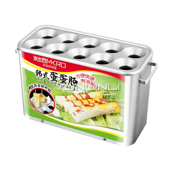 Commercial Egg Roll Baking Machine Automatic Egg Roll Baking Stove Egg Roll Machine for Breakfast Store/Snack Bar HLA1