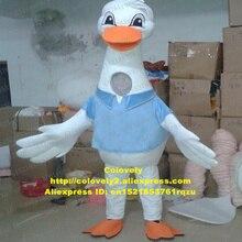 Лебедь Cygnus Гусь аист маскоты костюм для взрослых, Герой мультфильма оценка банкет годовщина празднования zz6523