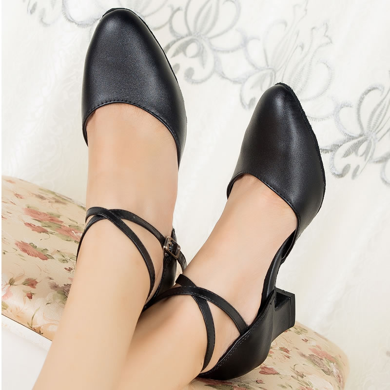 New Arrival leather ballroom shoes Brand Womens Ballroom Latin Tango Dance Shoes 6396