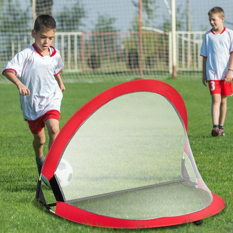 5 Colors Soccer Football Goal Net Folding Training Goal Net Kids Indoor Outdoor Play Toy