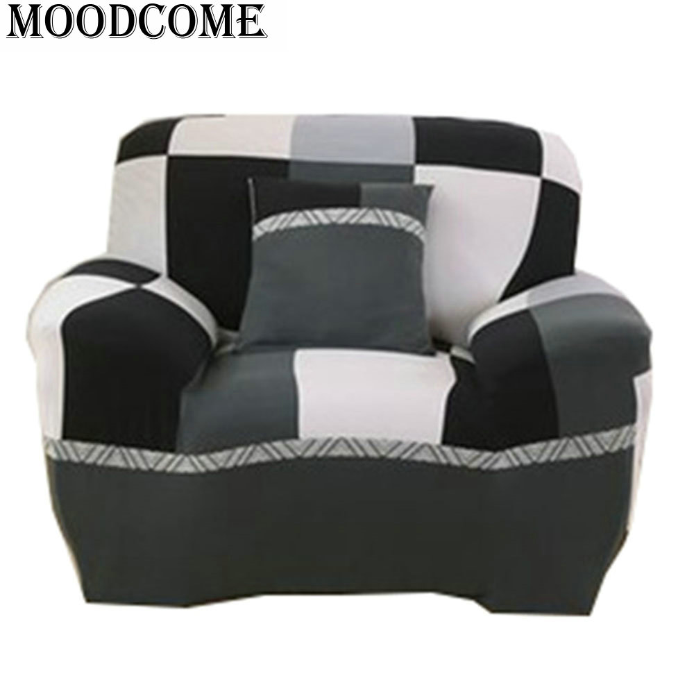 Stretch Black And White Dot Printed Housse Canape Sofa