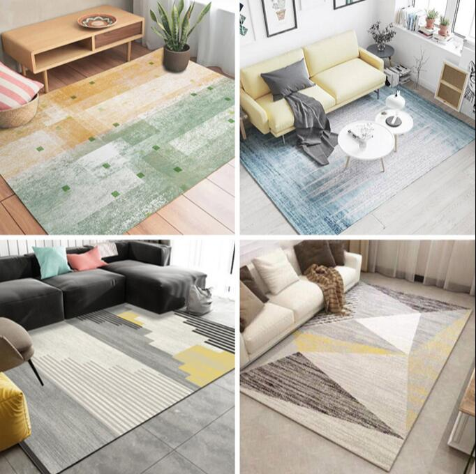 Nordic Style Geometric Pattern Carpet Large Size Living Room Bedroom Tea Table Rugs and Carpets Rectangular
