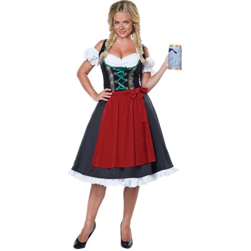 Women Oktoberfest Costume Girl Bavarian German Dirndl Maiden Dress Carnival Halloween Cosplay Party Waitress Clothes