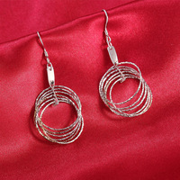 Real 925 Sterling Silver Earrings for women dangles for ladies very fine beautiful jewelry
