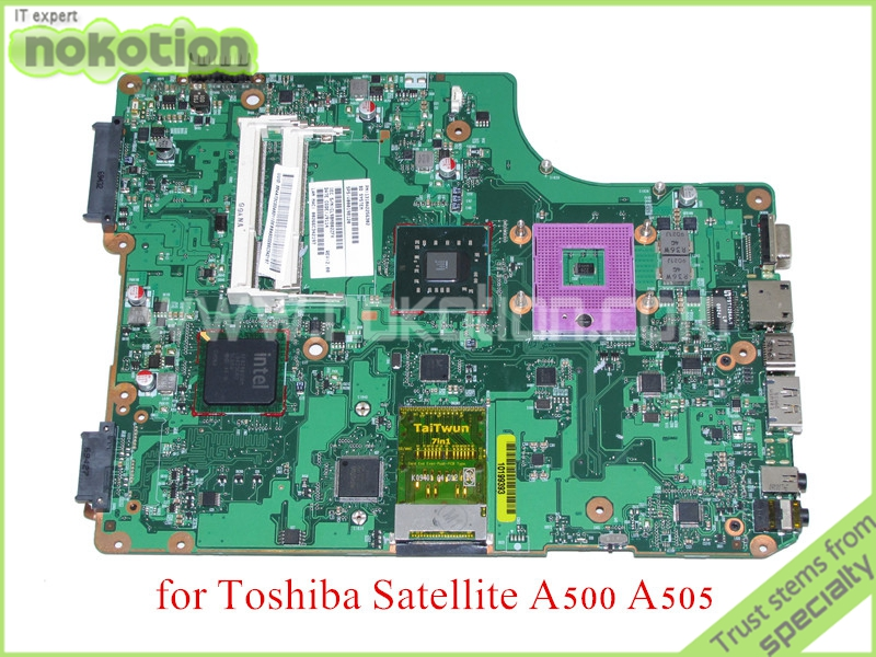 NOKOTION SPS V000198120 PN 1310A2256302 For toshiba SATELLITE A500 A505 laptop motherboard GM45 DDR3 nokotion for toshiba satellite c850d c855d laptop motherboard hd 7520g ddr3 mainboard 1310a2492002 sps v000275280