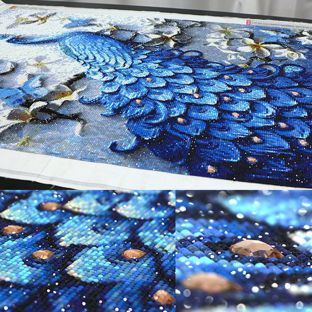 Diamond Painting,Special Daimond accessories,Diamond Embroidery,Animal,Peacock,Full,Rhinestone,5D