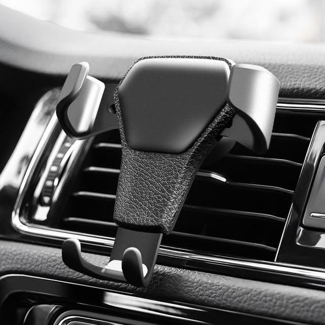 Soporte de teléfono de coche para teléfono en el soporte de ventilación de aire del coche sin soporte magnético para teléfono móvil Universal gravedad teléfono móvil celular apoyo