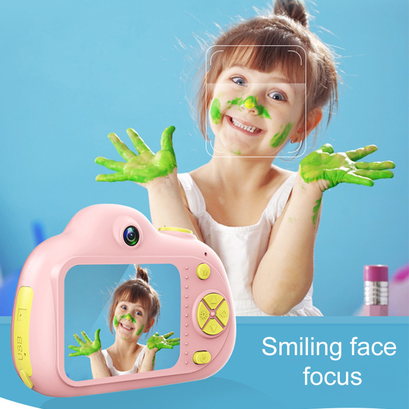 Image 2 - 2.0inch HD 1080P Mini Kids Camera Children Front and Back Dual Lens Digital Video Camera Face Recognition Camara Fotografica Cam-in Point & Shoot Cameras from Consumer Electronics