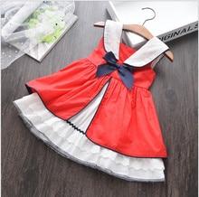 קיץ תינוקת ללא שרוולים אדום בציר ספרדית שמלת אדום ארמון סגנון שמלה עבור בנות מסיבת שמלת נסיכת שמלת 100% כותנה