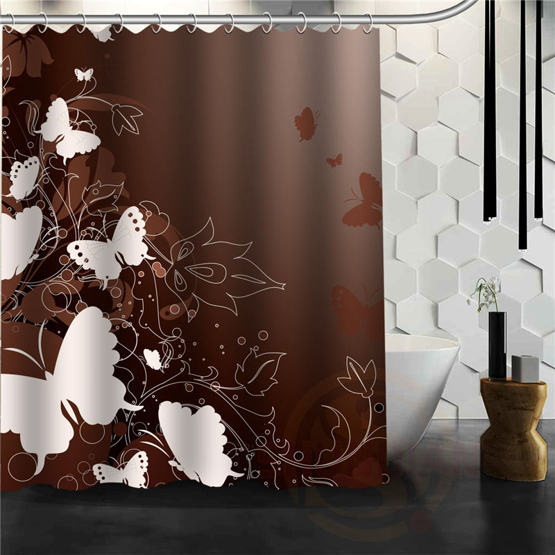 Custom Elegant Butterfly Shower Curtain Multi Size bathroom curtains ...