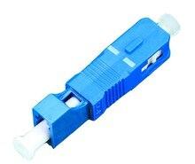 5 pçs lc fêmea para sc macho adaptador de fibra óptica LC SC singlemode simplex adaptador de fibra óptica connecter frete grátis