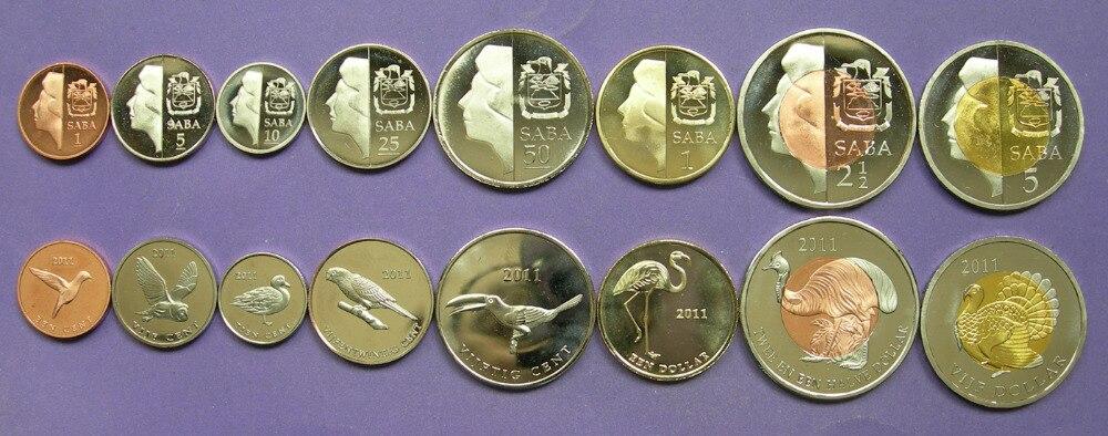 8pcsSaba Eilanden coin 100% originele coin coin Niet verspreid 2011 jaar-in Non-valuta Munten van Huis & Tuin op  Groep 1