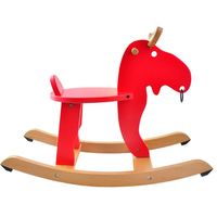 Modern Kids Wooden Rocking Horse for Toddlers Children Furniture Horse Rocking Chair Rocker Rocking Stool For Kids Baby Playroom