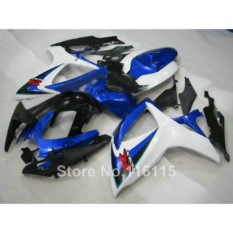 Injection mold fairing kit for SUZUKI GSXR 600 750 K6 K7 2006 2007 motorcycle part GSXR600 GSXR750 06 07 blue white black fairin new motorcycle ram air intake tube duct for suzuki gsxr600 gsxr750 2006 2007 k6 abs plastic black