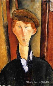 Woman Art online Amedeo Modigliani Paintings Young Man with Cap High quality Hand painted
