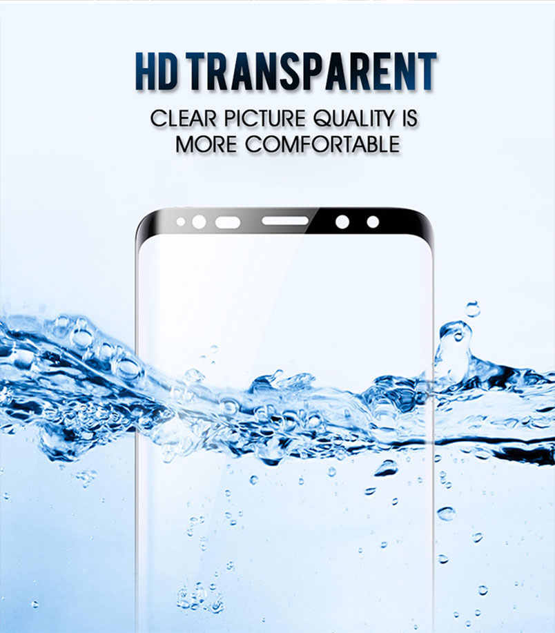 Full Lem Cover Tempered Glass untuk Samsung GALAXY Catatan 10 Plus S8 S9 9 8 S6 S7 Edge Pelindung Layar film 9D 10D Case